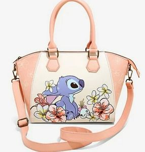 NWT Loungefly Lilo and Stitch Floral Satchel